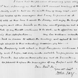 Document, 1822 April 23