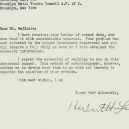 Envelope : 1955 February 15