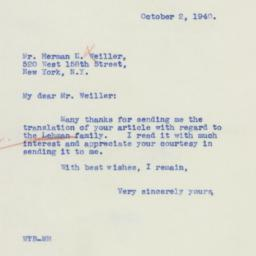 Certificate: 1940 October 2