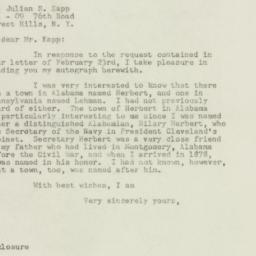 Ephemera: 1949 February 25