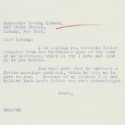 Letter : 1933 December 10