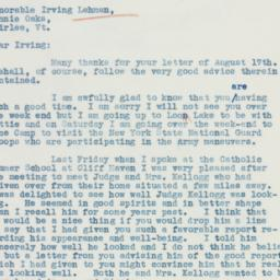 Letter: 1935 August 20