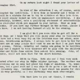 Letter: 1935 November 27