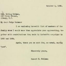 Letter: 1936 October 5