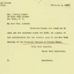 Letter: 1937 February 2