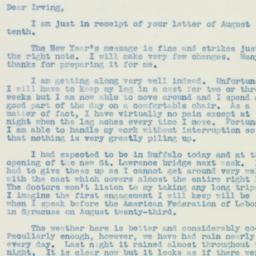 Letter: 1938 August 11