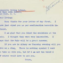 Speech: 1939 May 2