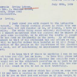 Letter: 1939 July 28
