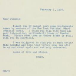 Letter : 1938 February 1