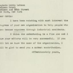Letter : 1947 May 3