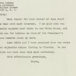 Letter : 1948 June 9