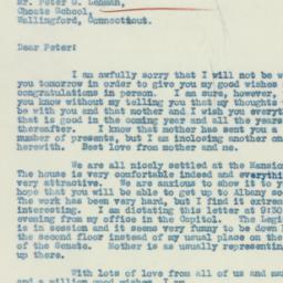 Letter : 1933 January 16