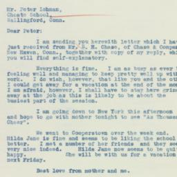 Letter: 1934 March 9