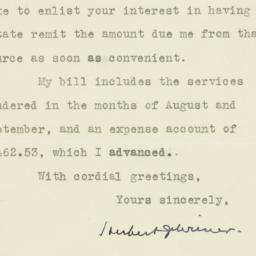 Letter : 1930 December 11