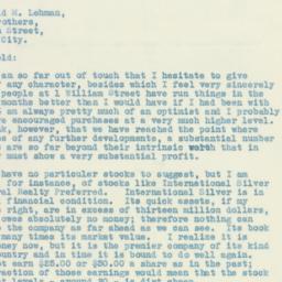 Letter: 1931 October 8