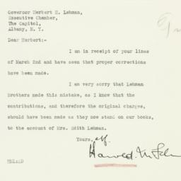 Letter: 1933 March 3