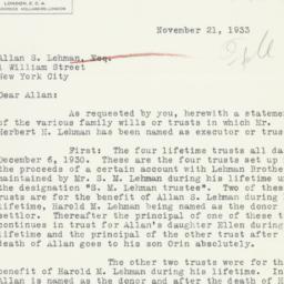 Letter: 1933 November 21