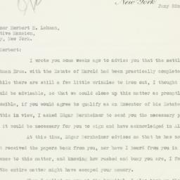 Letter : 1934 January 22