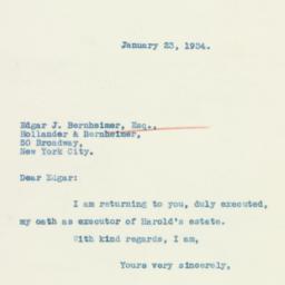 Letter: 1934 January 23