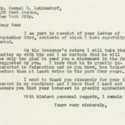Letter: 1932 September 27