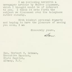 Letter: 1935 August 2