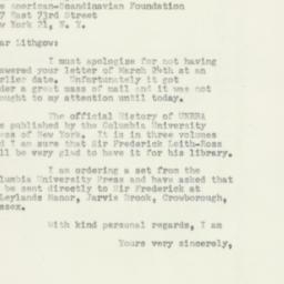 Letter : 1952 April 26