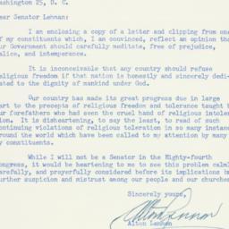 Letter : 1954 September 24