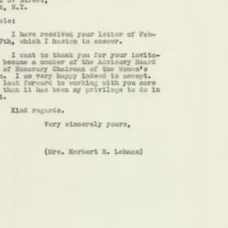 Letter: 1947 March 4