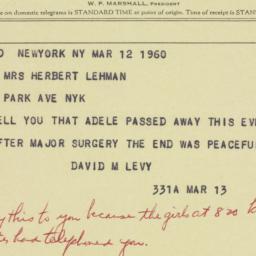 Invitation : 1960 March 12