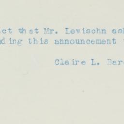 Letter: 1937 January 16