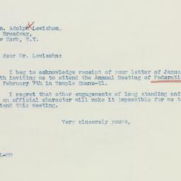 Letter: 1937 January 18