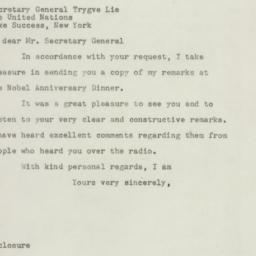 Letter : 1947 December 11
