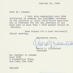 Letter : 1948 January 31