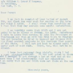 Letter : 1936 August 12