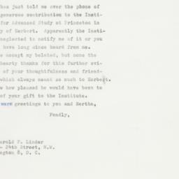Letter : 1964 April 17