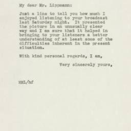 Letter : 1945 October 30