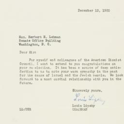 Letter : 1950 December 12