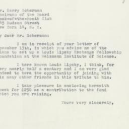 Letter : 1951 November 20