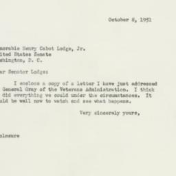 Letter : 1951 October 8
