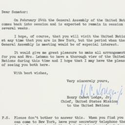 Letter : 1953 February 3
