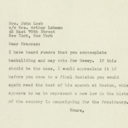 Letter : 1944 November 4