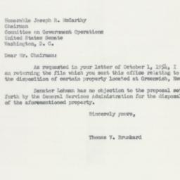 Letter : 1954 October 29