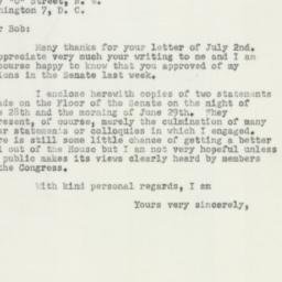 Letter : 1951 July 9