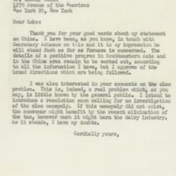 Letter: 1950 March 9