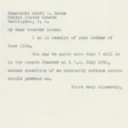 Letter : 1950 June 16