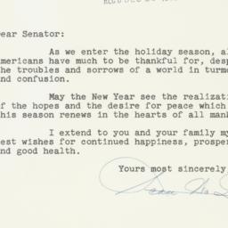 Letter : 1952 December 19
