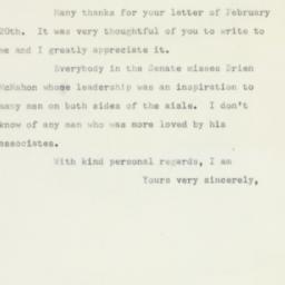 Letter : 1953 February 24