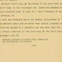 Telegram : 1947 November 4