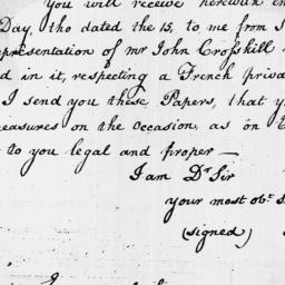 Document, 1796 October 14