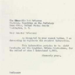 Letter: 1950 April 6